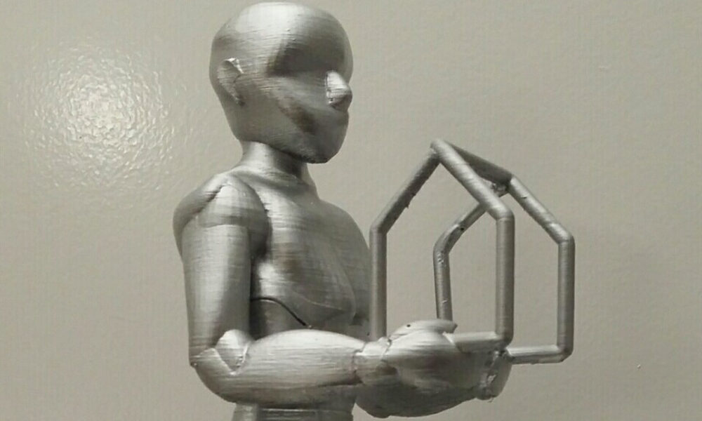 Grosses Beispielbild für das Material PLA metalfill
