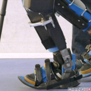 Exoskelett von VariLeg enhanced, um am Wettkampf CYBATHLON 2020 teilzunehmen