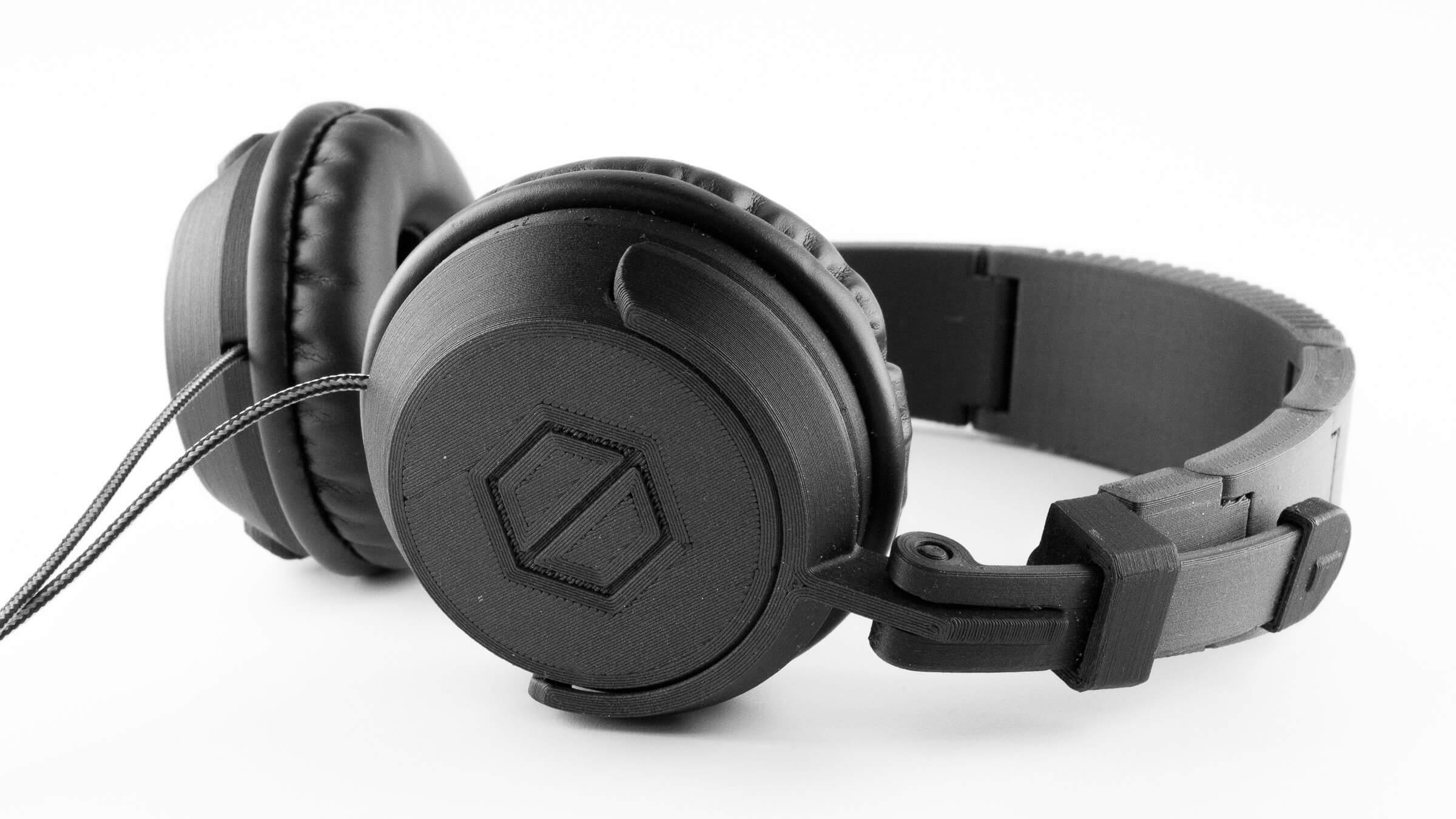 3D gedruckte Kopfhörer aus PETG-CF, kohlefaserhaltiges PETG