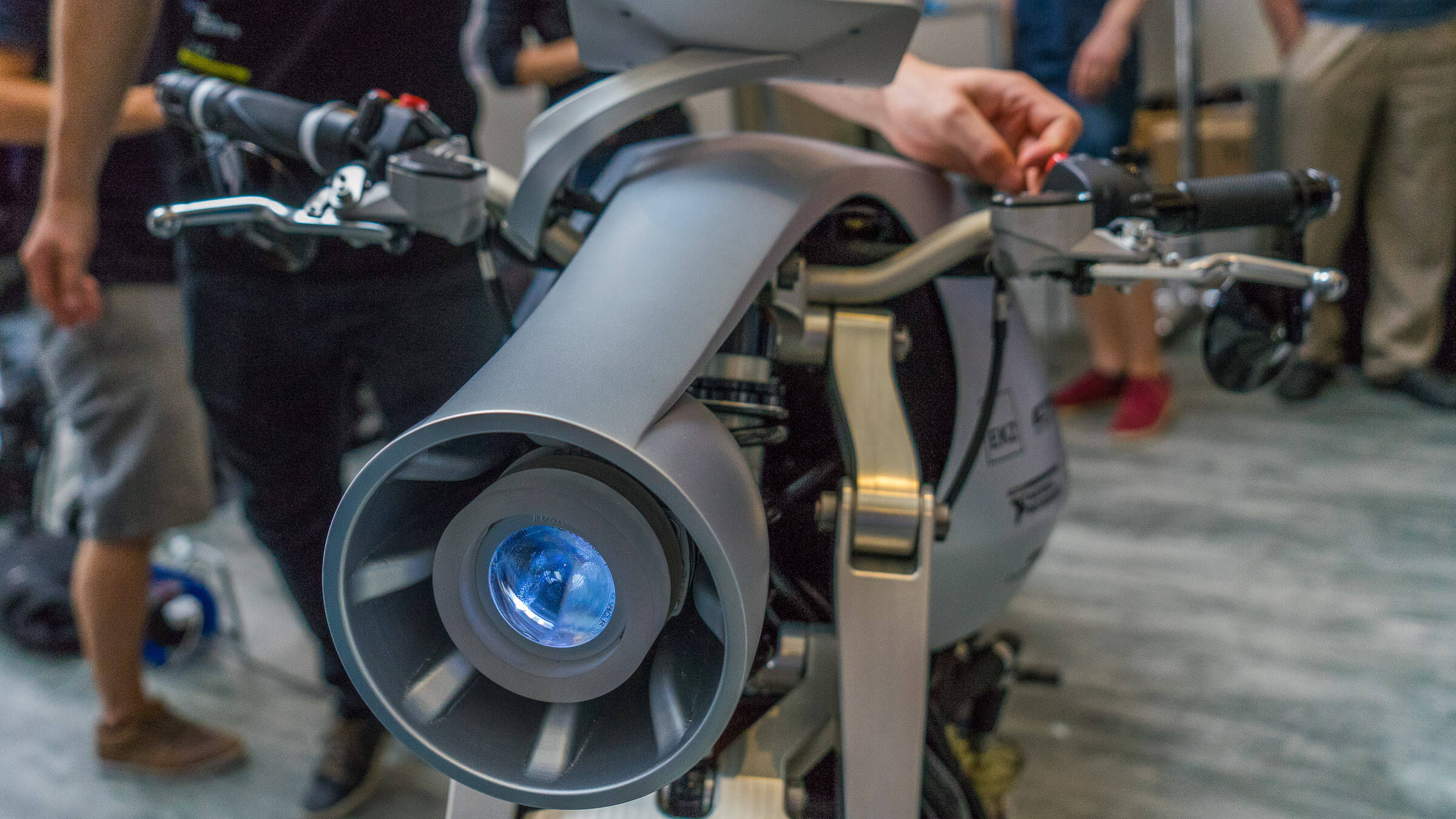 3D gedruckter Motorrad Scheinwerfer für das ETH Fokusprojekt ethec