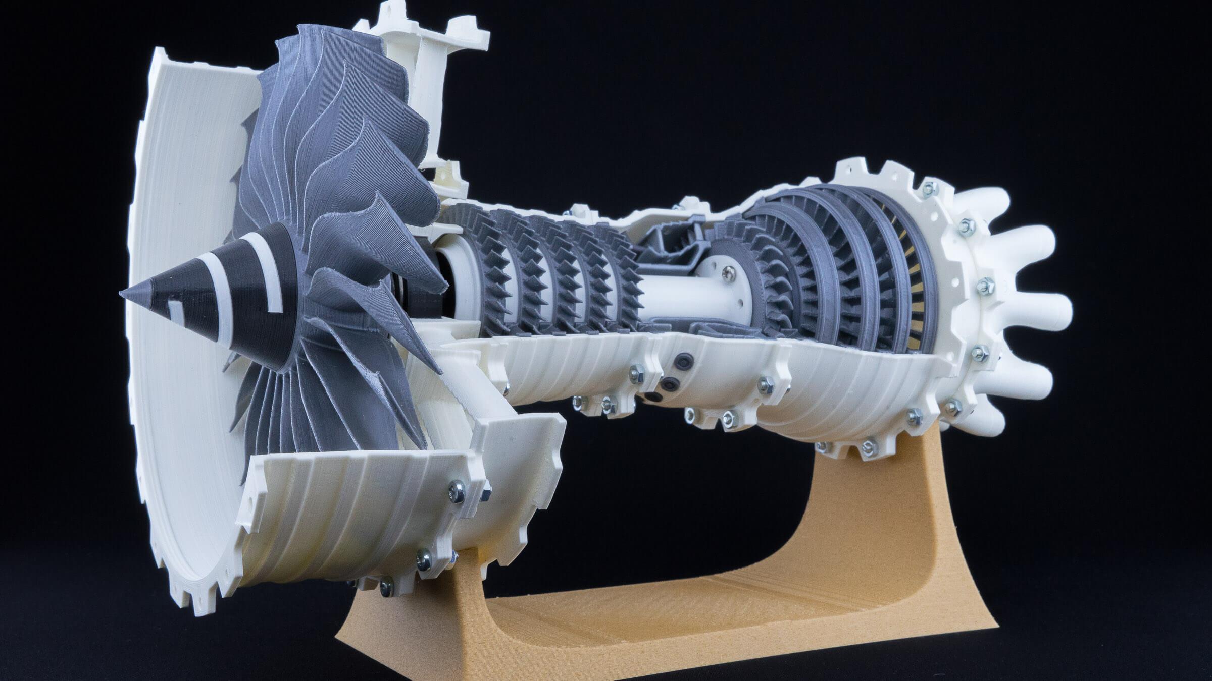 3D gedruckte Turbine als Anschauungsbeispiel und Schulungsobjekt